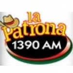 Logo da emissora KFFK 1390 AM La Patrona