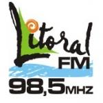Logo da emissora Rádio Litoral 98.5 FM