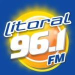 Logo da emissora R�dio Litoral 96.1 FM