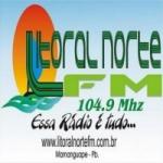 Logo da emissora Rádio Litoral Norte 104.9 FM