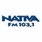 Logo da emissora Rádio Nativa 103.1  FM