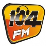 Logo da emissora Rádio Mariana 104 FM