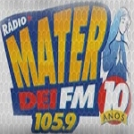 Logo da emissora R�dio Mater Dei 105.9 FM