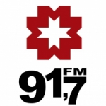 Logo da emissora Rádio Mercosul 91.7 FM