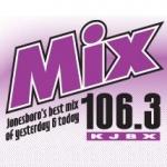 Logo da emissora KJBX 106.3 FM Mix