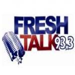 Logo da emissora KKSP 93.3 FM Fresh Talk