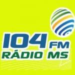 Logo da emissora Rádio MS 104 FM