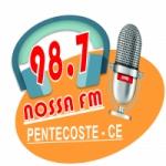 Logo da emissora Rádio Nossa 98.7 FM
