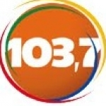 Logo da emissora R�dio Paju�ara 103.7 FM