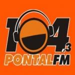 Logo da emissora R�dio Pontal 104.3 FM