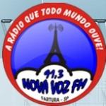 Logo da emissora Rádio Nova Voz 91.3 FM