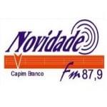 Logo da emissora Rádio Novidade 87.9 FM