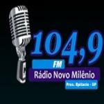 Logo da emissora Rádio Novo Milênio 104.9 FM