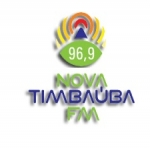 Logo da emissora R�dio Nova Timba�ba 96.9 FM