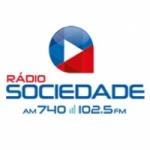 Logo da emissora Rádio Sociedade 740 AM 102.5 FM