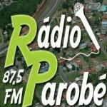 Logo da emissora R�dio Parob� 87.5 FM
