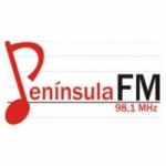 Logo da emissora Rádio Península 98.1 FM
