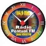 Logo da emissora Rádio Pontual 104.9 FM