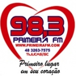Logo da emissora Rádio Primeira 98.3 FM