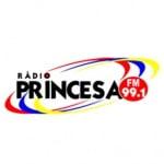 Logo da emissora Rádio Princesa 99.1 FM