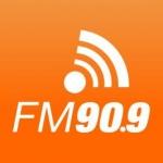 Logo da emissora R�dio Rainha 90.9 FM