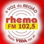 Logo da emissora Rádio Rhema 102.5 FM
