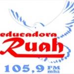 Logo da emissora Rádio Educadora Ruah 105.9 FM