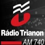 Logo da emissora R�dio Trianon 740 AM