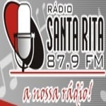 Logo da emissora Rádio Santa Rita 104.5 FM