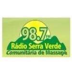 Logo da emissora Rádio Serra Verde 98.7 FM