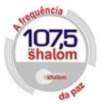 Logo da emissora Rádio Shalom 107.5 FM