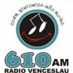 Logo da emissora Rádio Venceslau 610 AM