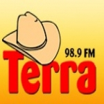 Logo da emissora Rádio Terra 98.9 FM