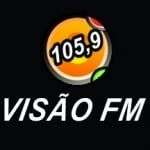 Logo da emissora Rádio Visão 105.9 FM