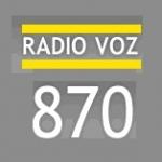 Logo da emissora Rádio Voz 870 AM