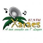 Logo da emissora R�dio Xara�s 87.9 FM