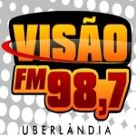Logo da emissora Rádio Visão 98.7 FM