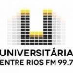 Logo da emissora Rádio Universitária 99.7 FM