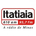 Logo da emissora Rádio Itatiaia 610 AM
