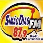 Logo da emissora R�dio Sim�o Dias 87.9 FM