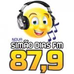 Logo da emissora Rádio Simão Dias 87.9 FM