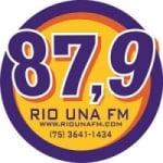 Logo da emissora Rádio Rio Una 87.9 FM