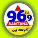 Logo da emissora R�dio Santana 96.9 FM