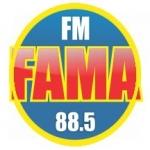Logo da emissora Rádio Fama 88.5 FM