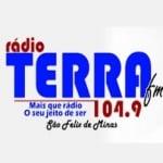 Logo da emissora Rádio Terra 104.9 FM