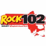 Logo da emissora Radio WAQY Rock 102.1 FM
