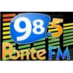 Logo da emissora Rádio Ponte 98.5 FM