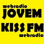 Logo da emissora Rádio Jovem Kiss FM