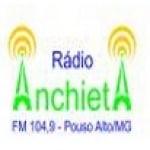 Logo da emissora Rádio Anchieta 104.9 FM