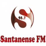 Logo da emissora Rádio Santanense 98.7 FM